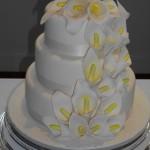 Calla Lily Cascade Wedding Cake