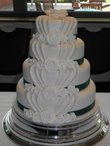 Fabric fold Wedding Cake