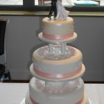Pale Pink Dancer Wedding Cake