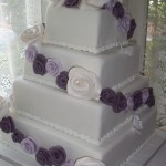 Purple Rose Wedding cake
