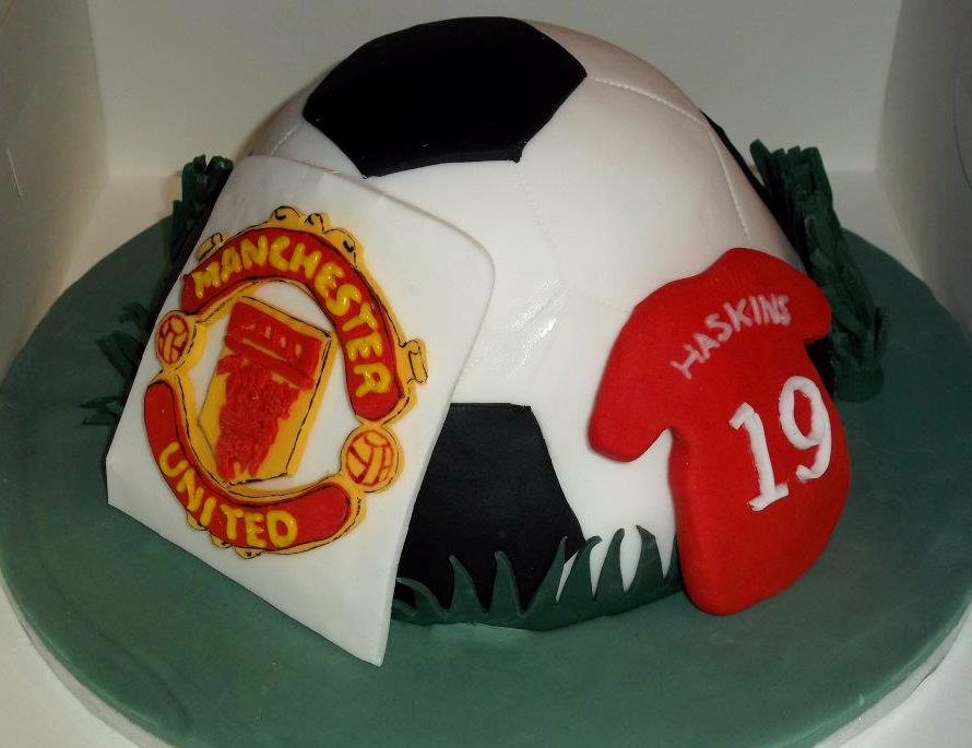 Man United Birthday Cake Jans Occasional Cakes