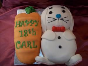 18th Birthday Carrot Cake
