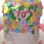 70 Roses for 70th Birthday Cake