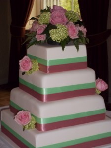Amy and Matts Wedding cake