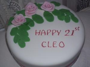 Cleo's Rose 21st Cake