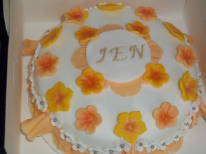 Jens Frills and Flowers Birthday Cake
