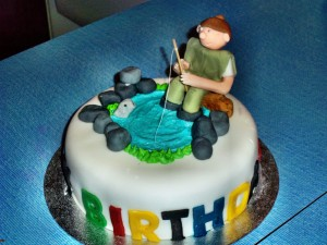 Fisherman Birthday Cake