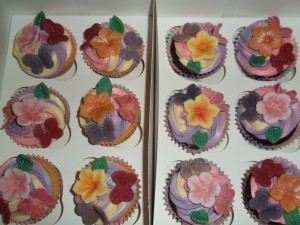 Flower n butterfly cupcakes