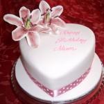Heart shaped Lily Birthday Cake