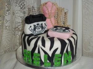 Zebra Print Fashionista Cake