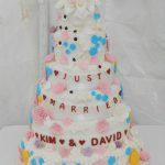 K&D wedding cake
