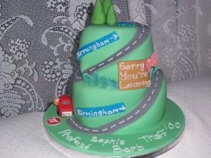 Katies leaving cake
