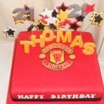 Manchester United 21st cake