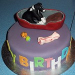 Pet Dog Birthday Cake