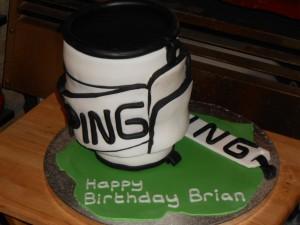 Ping Golf Bag Cake