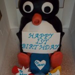 Pingu celebrating Adams 1st Birthday