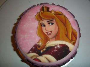 Princess Aroura topped named cake