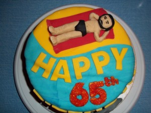 Retirement or 65th Birthday Cake