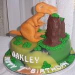 T-Rex Dino Birthday cake