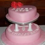 ambers christening cake