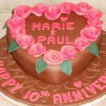 M&P anniversary cake