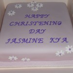 Jasmines Christening Cake