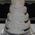 Fabric fold Wedding Cake
