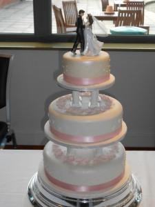 Pale Pink Dancer Wedding Cake