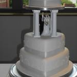 Trio of Hearts Wedding Cakes