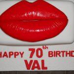 lips novelty cake