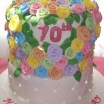 70 Roses for 70th Birthday Cake