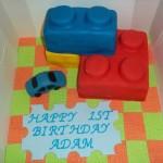 Cake Bricks Birthday Cake