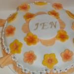 Jen's Frills and Flowers Birthday Cake