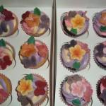 Flower n butterfly cupcakes