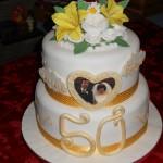Ken and Barb 50 anniversary cake