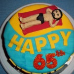 Retirement or 65th Birthday Cake