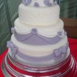 Ribbons, Roses and Bows Wedding Cake