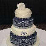Four Tier stencilled Wedding Cake.